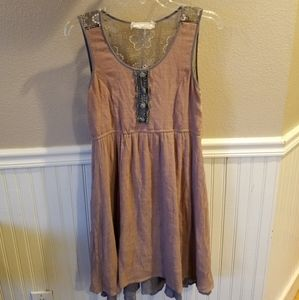 Areve Dress sleeveless layered sz med